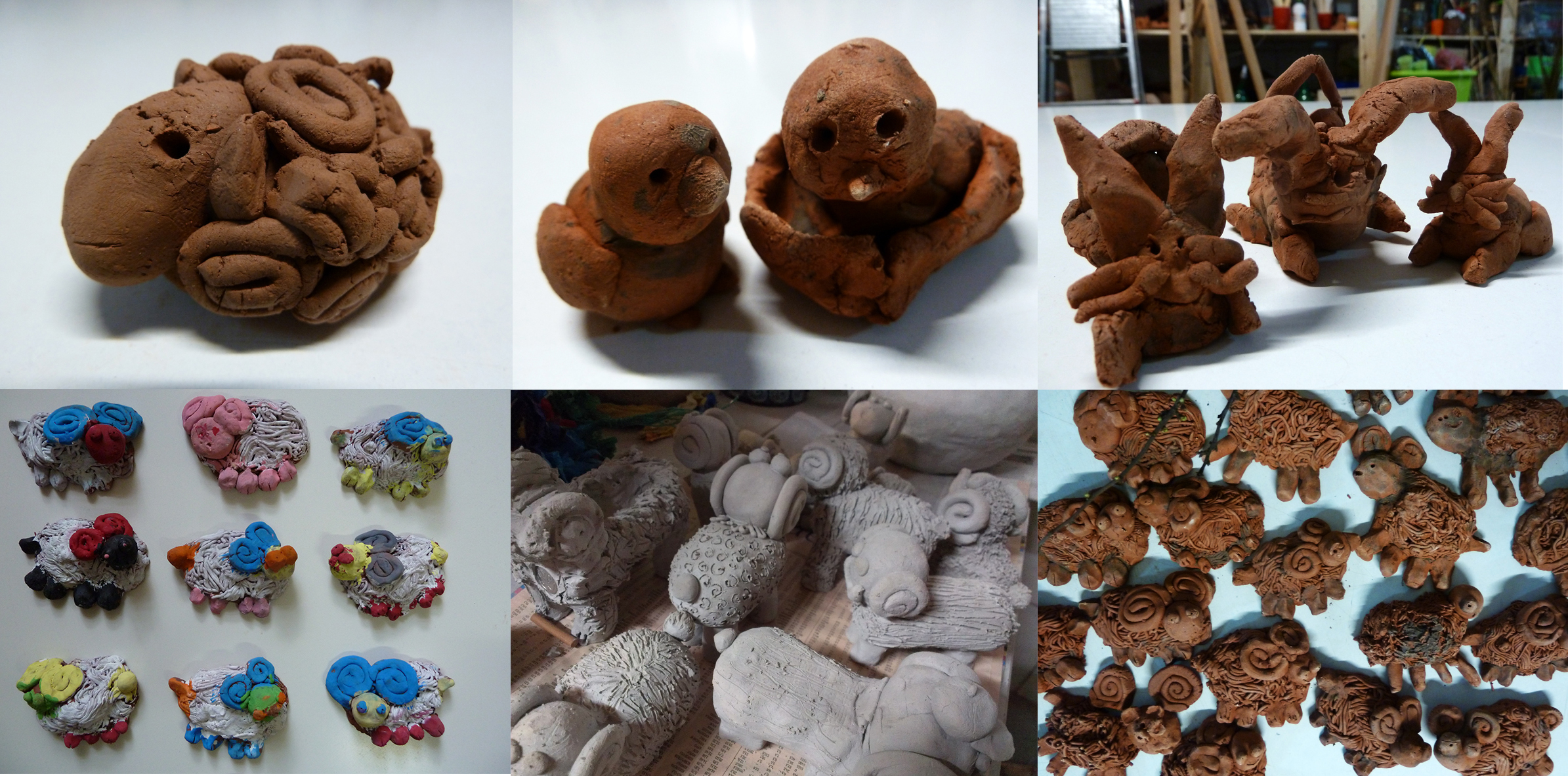 7_ceramiczne kuraki, barany i zające