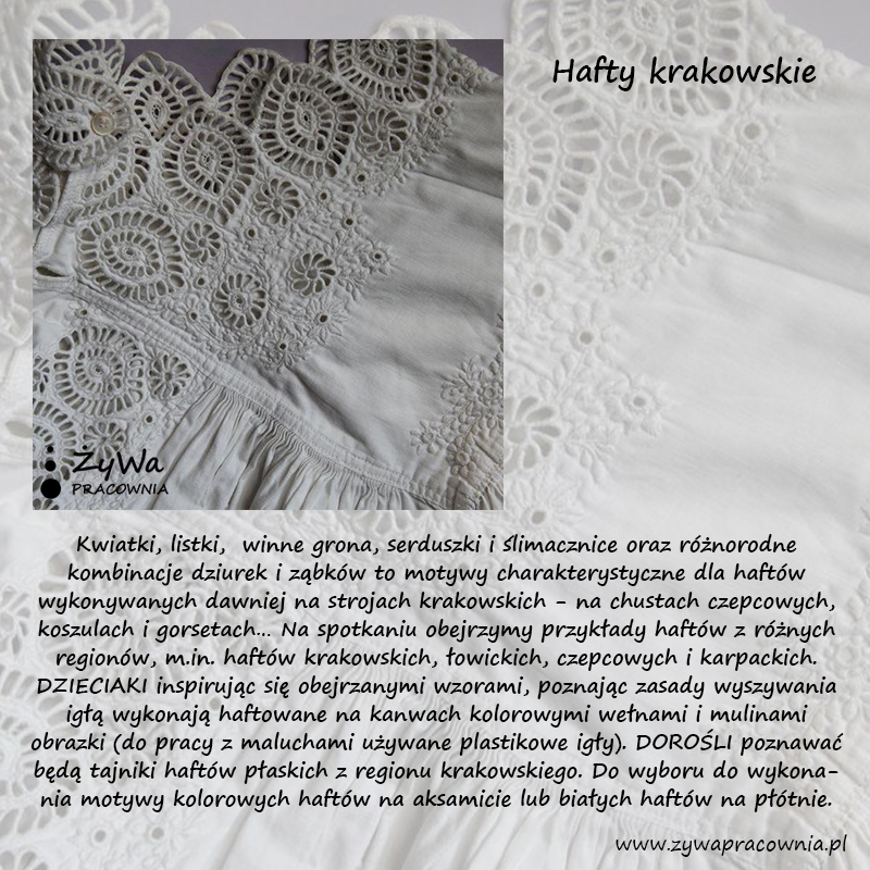 hafty krakowskie